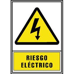 CARTEL PVC AMARILLO RIESGO ELECTRICO