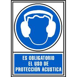 CARTEL PVC AZUL PROTECCION ACUSTICA