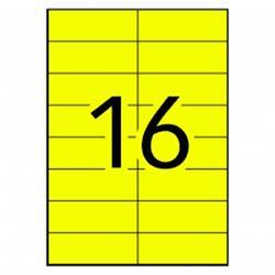 ETIQUETA DIN A-4 105X37 AMARILLA (paquete 100 hoja