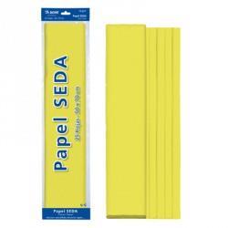ROLLO PAPEL SEDA 50x65 AMARILLO (25 HOJAS)