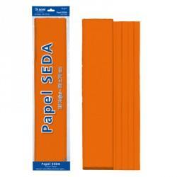 ROLLO PAPEL SEDA 50x65 NARANJA (25 HOJAS)
