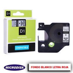 CINTA DYMO 1000 12mm x 7m. F.B./ L.R.
