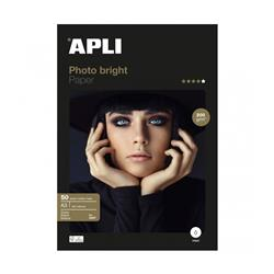 PAPEL APLI DIN A3 DE 175/200 grs.PHOTO BRIGHT 50 h