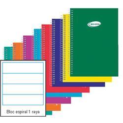 BLOC ESPIRAL FOLIO 1 RAYA 80 hojas