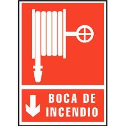 CARTEL PVC ROJO BOCA DE INCENDIO