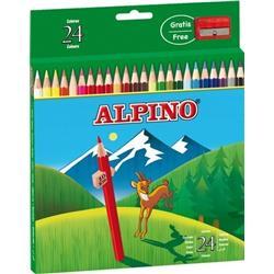 ESTUCHE LAPICES ALPINO 24 unid.