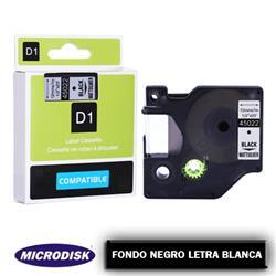 CINTA DYMO 1000 12mm X 7m. F.N./ L.B.
