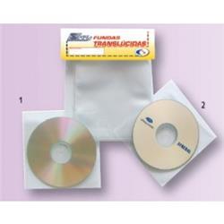 FUNDA TRANSPARENTE PLASTICO CD ADHESIVA