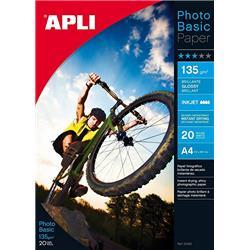 PAPEL APLI DIN A4 DE 125/135 grs.GLOSSY PAPER 60 h