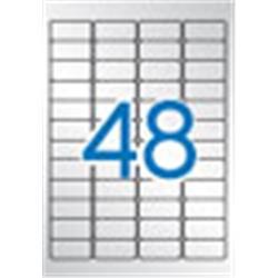 ETIQUETA DIN A4 45,7 x 21,2 PLATEADA (20 hojas)
