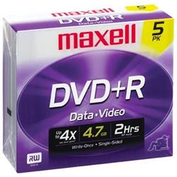 DVD+R MAXELL 4,7 GB. CAJA INDIVIDUAL