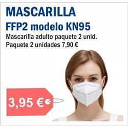 MASCARILLA FFP2 MODELO KN95 ( 2 unid )