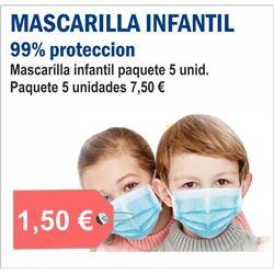 MASCARILLA INFANTIL ( 5 unid.)