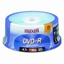DVD+R MAXELL 4,7 GB TARRINA 25 UNID.
