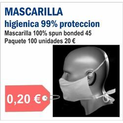 MASCARILLAS HIGIENICAS DESECHABLES (100 UNID.)