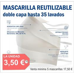 MASCARILLA REUTILIZABLE (5 unidades)