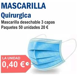 MASCARILLA QUIRURGICA (50 unid.)