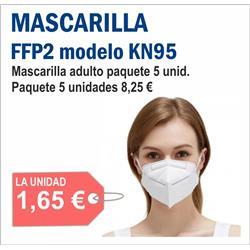 MASCARILLA FFP2 MODELO KN95 ( 5 unid )