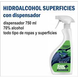 DISPENSADOR HIDROALCOHOL SUPERFICIES 750 ML