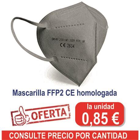 MASCARILLA FFP2 MODELO CEE ( 5 unid ) GRIS