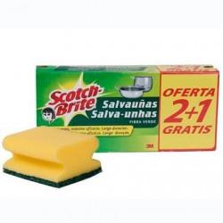ESTROPAJO SCOTCH BRITE SALVAUÑAS 2+1